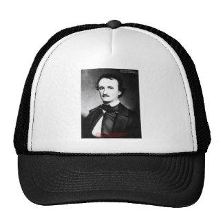 "Edgar Allen Poe ""Bouts Of Sanity"" Quote Gifts Tees Trucker Hat"