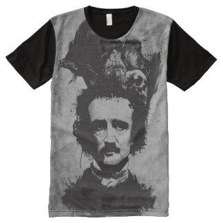 Edgar Allen Poe - Grey - All-Over Shirt