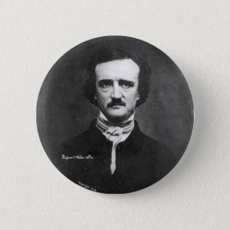 Edgar Allen Poe, pin-on 2 Inch Round Button