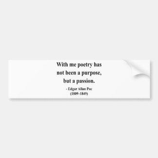 Edgar Allen Poe Quote 11a Bumper Sticker