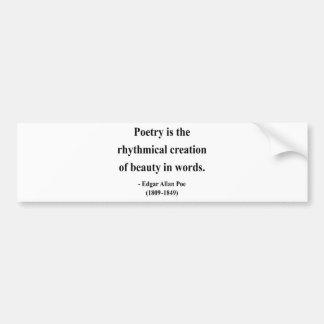Edgar Allen Poe Quote 5a Bumper Sticker