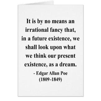Edgar Allen Poe Quote 7a Card