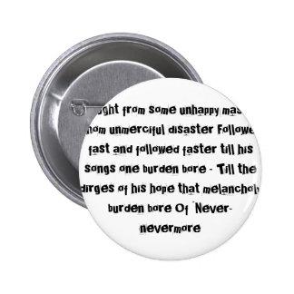 Edgar Allen Poe quote The Raven pin #2