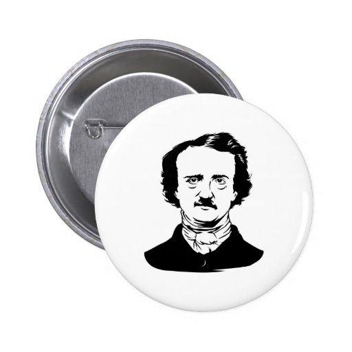 Edgar Allen Poe Raven Pinback Buttons