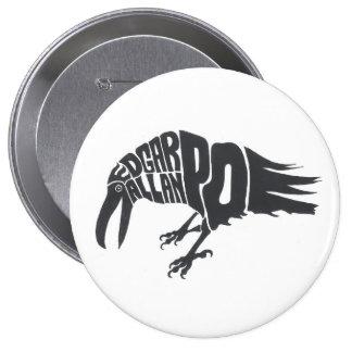 Edgar Allen Poe - The Raven 4 Inch Round Button