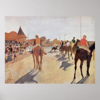 Edgar Degas - 1869-72 Jockeys @ Grand Stand Horse Poster
