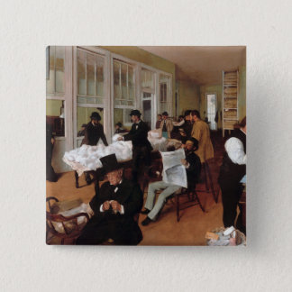 EDGAR DEGAS- A cotton office in New Orleans 1873 2 Inch Square Button