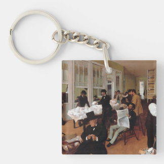 EDGAR DEGAS- A cotton office in New Orleans 1873 Keychain