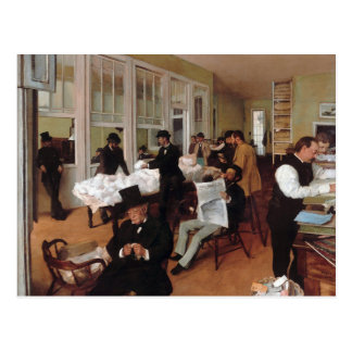 EDGAR DEGAS- A cotton office in New Orleans 1873 Postcard