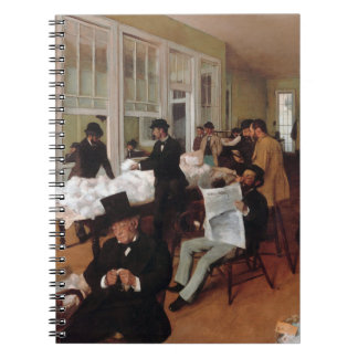 EDGAR DEGAS- A cotton office in New Orleans 1873 Spiral Notebook