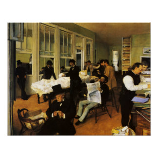 Edgar Degas A Cotton Office in New Orleans Poster