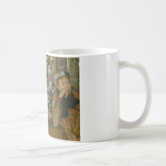 Edgar Degas - A Woman Seated beside a Vase Coffee Mug