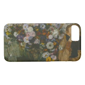 Edgar Degas - A Woman Seated beside a Vase iPhone 8/7 Case