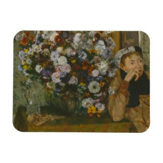 Edgar Degas - A Woman Seated beside a Vase Magnet