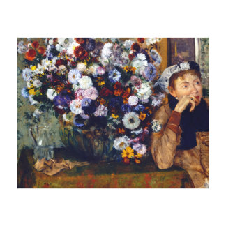 Edgar Degas A Woman Seated beside a Vase of Flower Canvas Print