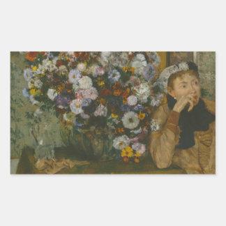 Edgar Degas - A Woman Seated beside a Vase Sticker