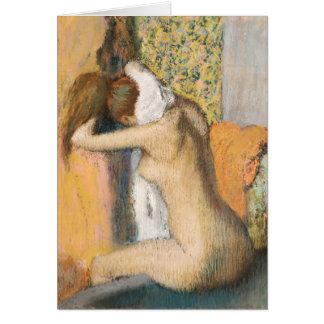 Edgar Degas | After the Bath, Woman Drying Neck Card