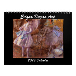 Edgar Degas Art 2016 Calendar