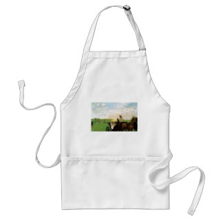 Edgar Degas - At country Races 1872 Horse Scape Adult Apron