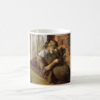Edgar Degas - At the Milliners 1881 Pastel paper Classic White Coffee Mug