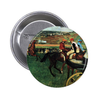 Edgar Degas, At the Races 2 Inch Round Button