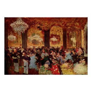 Edgar Degas - Ball Dinner Copy Menzell oil Theatre Poster