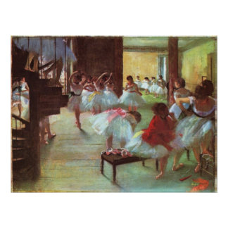 Edgar Degas - Ballet 1879-80 Shoe Stair Dancer Oil Poster