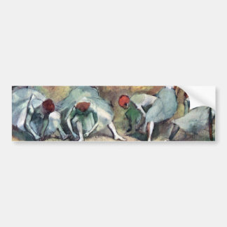 Edgar Degas - Ballet Dancers Tying Shoes Bumper Sticker