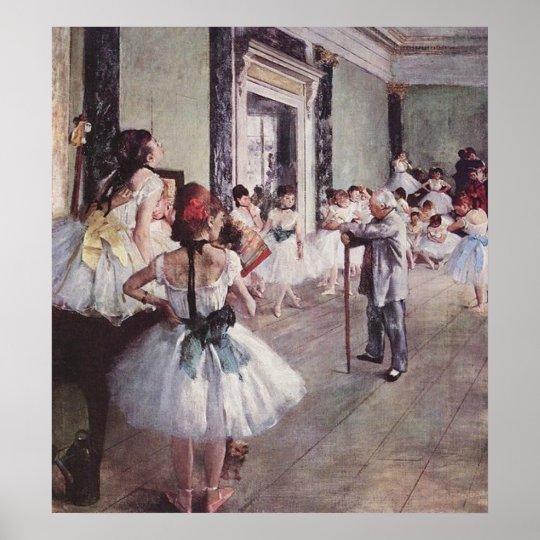 Edgar Degas Ballet Lesson Poster