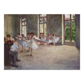 Edgar Degas - Ballet Rehearsal Class 1873 oil Posters