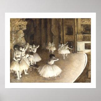 Edgar Degas | Ballet Rehearsal On Stage Poster