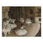 Edgar Degas – Ballet Rehearsal on Stage Poster