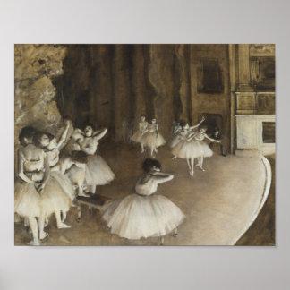 Edgar Degas – Ballet Rehearsal on Stage Poster
