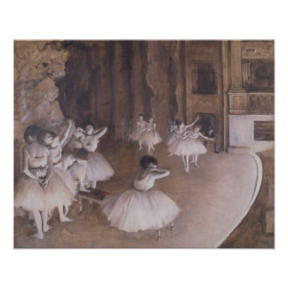 Edgar Degas | Ballet Rehearsal on the Stage, 1874 Poster
