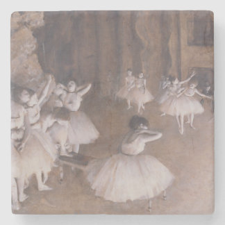 Edgar Degas | Ballet Rehearsal on the Stage, 1874 Stone Coaster