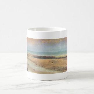 Edgar Degas - Beach @ Low Tide 1869-70 pastel Classic White Coffee Mug