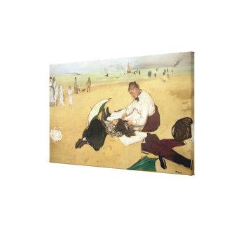 Edgar Degas   Beach scene Canvas Print