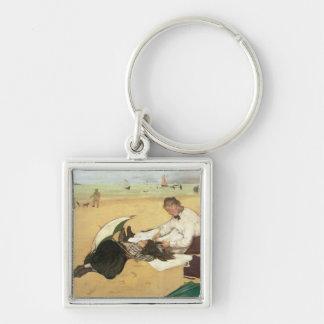 Edgar Degas | Beach scene Keychain