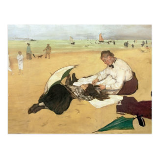 Edgar Degas   Beach scene Postcard