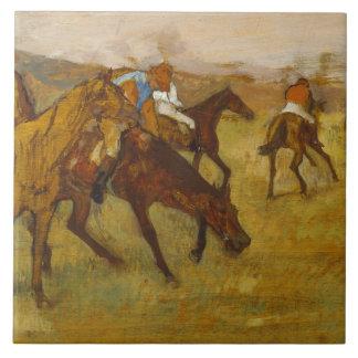 Edgar Degas - Before the Race Tile