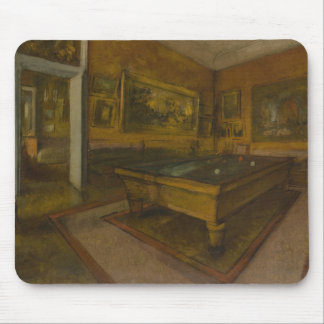 Edgar Degas – Billiard Room at Menil-Hubert Mouse Pad