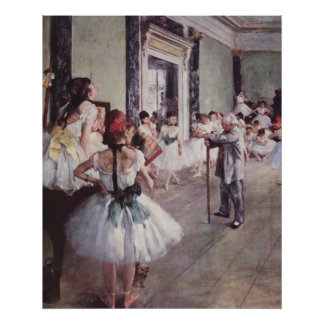 Edgar Degas - Dance Class 1875 oil canvas dancers Poster