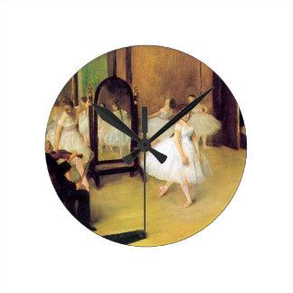 Edgar Degas - Dance Class Clocks