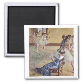 Edgar Degas - Dance Class Madame Cardinal 1878 oil Square Magnet