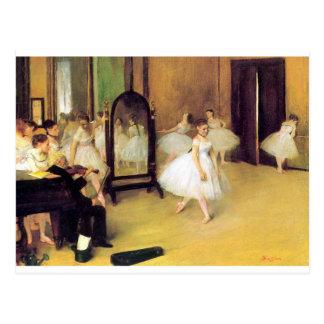 Edgar Degas - Dance Class Postcard