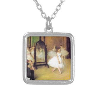 Edgar Degas - Dance Class Silver Plated Necklace