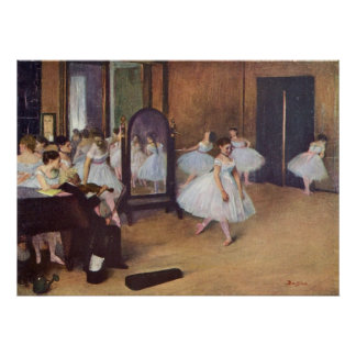 Edgar Degas - Dance Hall 1872 dancer ballerina oil Poster