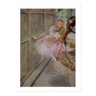 Edgar Degas   Dancer against a stage flat, c.1880 Postcard