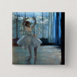 Edgar Degas   Dancer in Front of a Window 2 Inch Square Button