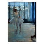 Edgar Degas   Dancer in Front of a Window Card